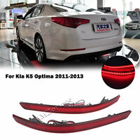 2x LED Rear Bumper Reflector Lights Driving Fog Lamp For Kia K5 Optima 2011-2013