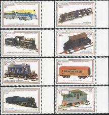 Grenada 1992 Model Railways/Trains/Locomotives/Rail/Toys/Transport 8v set b9790r