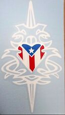 PUERTO RICO FLAG SWORD TRIBAL Decal Sticker
