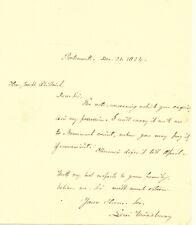 Levi Woodbury Autograph Letter Signed 1824 Nh Governor & Secretary Of Treasury