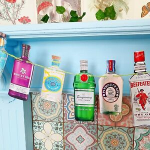 Gin Bottle Garland Bunting Party Wedding Drink Party Decoration Bar Cocktail