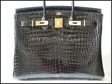 The Ultimate BLACK CROCODILE 35cm Hermes Birkin Bag/Gold