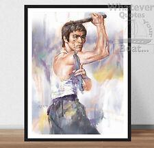 Bruce Lee-arte cartel impresión citar marcial especialista de arte Art + marco
