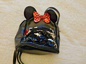 girls primark minnie mouse black backpack