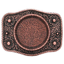 Roped Silver Dollar Metal Belt Buckle Antique Copper 6008-10 USA