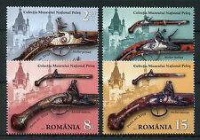 Romania 2017 MNH Weapons Guns Ornaments Natl Museum Peles 4v Set Museums Stamps