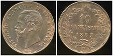 ITALIE 10 centesimi  1867 H   (  SPL  )  piéce absolument SPL