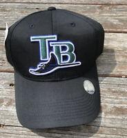 Vintage 1990s MLB Outdoor Cap Co Tampa Bay Devil Rays Snapback Hat Black NEW