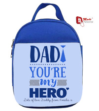 PERSONALISED  LUNCH BAG - BLUE - Father's Day Dad Gift - Any Message