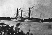 New 5x7 Civil War Photo: Gunboat MENDOTA on the James River