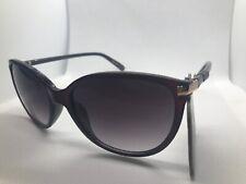 NEW Revlon Womens Trendy Plum Cateye Sunglasses 100% UV protection RVN 49 Gold