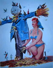 Hilda with scarecrow full of birds Duane Bryers