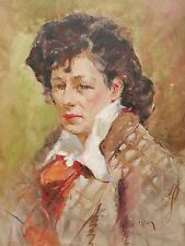 Portrait of a Woman – Immpresionist Oil Painting - FREE U.S. SHIPPING!