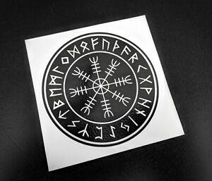 Precut Viking Helm Of Awe Stave Sticker / Decal, 86mm, Icelandic, Norse, Pagan