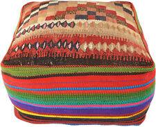 Home & Garden Orient Kelim Pouf Bodenkissen Sitzkissen 100% Wolle 60 X 60 X 35 Cm Inkl Füllung Furniture