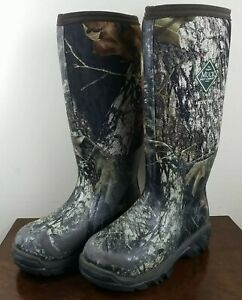 Womens Muck Boots Arctic Pro Sz 6 Camo Woodland Tall Outdooring Hunting Boot