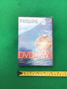PHILIPS DVD + RW 120 Mins VIDEO RECORDING DISCS 4.7GB DATA 1-4 X SPEED. SEALED.