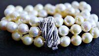vintage Akoya Zucht Perlen Armband 835 Silber ca. 39,42 Gramm