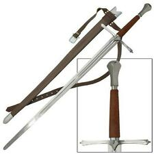 """1700s European Bastard Tempered 46"""" Sword with Sheath Medieval Collectible"""