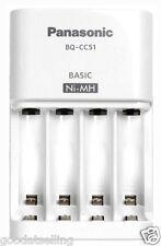 NEW Genuine Panasonic BQ-CC51 Battery Charger for eneloop AA / AAA Ni-MH Battery