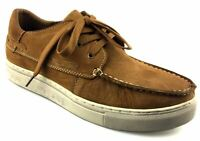 Mens Nubuck Leather Casual Smart Apron Vamp Lace Up Threaded Shoes Size