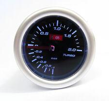 Smoked 52mm Turbo Boost gauge 2 Bar Seat Skoda VW Audi Turbo engines