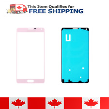 Samsung Galaxy Note 4 Pink Front Glass Lens And Adhesive Sticker