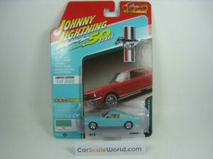 FORD MUSTANG 2+2 FASTBACK 1965 1/64 JOHNNY LIGHTNING (TROPICAL TURQUOISE)