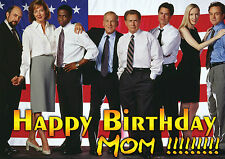 WEST WING Personalised Happy Birthday Xmas Greeting TV Art Card Martin Sheen
