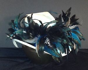 Carolina Panthers Feather Team Colors Cowboy Hat - $100 Gift Card w Purchase