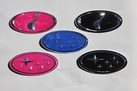 IMPREZA i PINK WRX STI BADGE 103mm X50mm