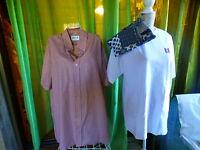 homme lot=chemise petits carreaux=41-42 ,tee-shirt blanc+haut de pyjama offert
