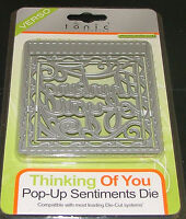 "TONIC STUDIOS VERSO - POP UP SENTIMENT DIE SET ""THINKING OF YOU""  3 DIES"