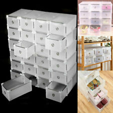 5pcs Men Shoes Case Box Portable Rectangle Drawer Type Shoes Container For Men