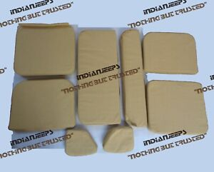 COMPLETE CANVAS SEAT CUSHION SET JEEP WILLYS MB GPW 1941-47