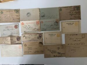 Hungary - Lovely collection of early postal stationary
