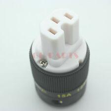 1PC Gold Plate USA IEC Female AC Mains Power Socket Connector 125V 15A FR AUDIO