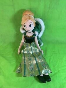 "DISNEY STORE FROZEN Coronation Princess Anna 20"" Plush Doll Soft Toy - Winter"