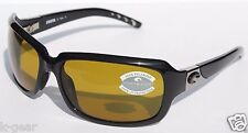 COSTA DEL MAR Isabela 580 POLARIZED Womens Sunglasses Black/Sunrise 580P NEW