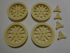 1/8th Halibrand resin wheel fronts with knock-offs