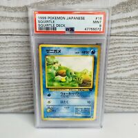 PSA 9 MINT Japanese SQUIRTLE 007 #18 Squirtle Deck Intro VHS Promo Pokemon Card