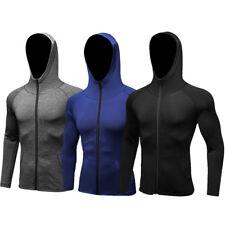 Men Compression Hoodies Sweatshirts Yoga Pullover Night Running Jogger Sportwear