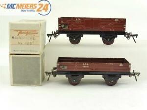 E150 Fleischmann Spur 0 455 2x Offener Güterwagen 45575 45070 / Blech