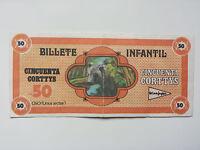 "EL CORTE INGLES - ULTRA RARE ""CORTTYS"" BILL / FICTITIOUS MONEY FOR SPANISH STORE"