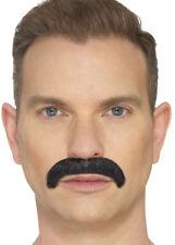 The Horseshoe Mustache - Mens Stick Moustache Black Blonde Brown Adult Fancy