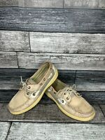 Womens Sperry Top Sider Bluefish Linen/Oat Boat Shoes 9276619 SIZE 7M