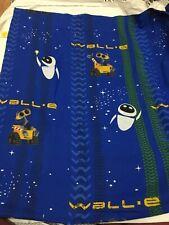 Walt Disney Wall-E Twin Flat Sheet Robots Plant Eve Pixar Fabric Blue