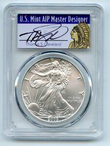 2005 $1 American Silver Eagle Dollar 1oz PCGS MS70 Thomas Cleveland Native
