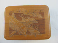 Dolphin Discovery Wood Playing Dice Game Poker Card Set Container Box