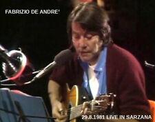 FABRIZIO DE ANDRE' LIVE SARZANA '81 DVD o CD -regalo con acq.cartolina-sped.free